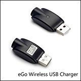 2-Pack USB With OverCharge ProtectionCharger Cables Compatible for 510 Thread USB Ego Charger (Black-2pack)
