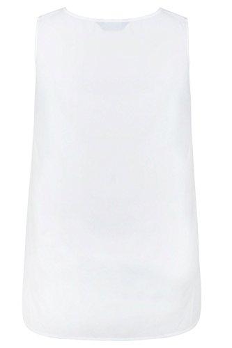 Yours Clothing - Débardeur - Uni - Sans Manche - Femme blanc blanc