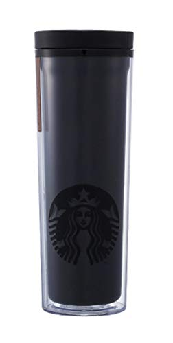 해외 한정 스타벅스 블랙 텀블러 스타벅스 Starbucks Crosby Black Gold Badge Tumbler 473ml   (Black)