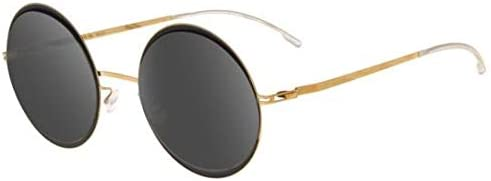 Mykita Gafas de Sol Iris Gold Jet Black/Brilliant Grey Solid ...