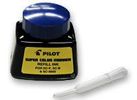 12 Pack Pilot Pen 43600 1oz Refill Ink for Permanent Markers - Blue (SCRF-BLU)