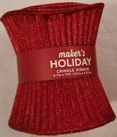 Maker's Holiday Snow on Light Blue Christmas Mesh Crafting Holiday Ribbon 10.5''x 15'