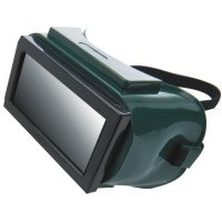 Ridged Goggle, Hard Plastic, Green (14 Pack) ()