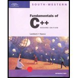 Fundamentals of C++ : Introductory Course, Lambert, Kenneth and Nance, Douglas W., 0538695595