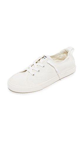 Tretorn Women's Meg Sneaker, Vintage White/Tretorn White, 9 Medium US