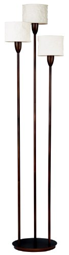 Kenroy Home 30673ORB 3 Light Crush Torchiere, Oil Rubbed Bronze (Finish Torchiere Bronze)