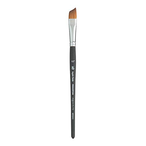 Sable Angle - Princeton Aqua Elite NextGen Artist Brush, Series 4850 Synthetic Kolinsky Sable for Watercolor, Angle Shader, Size 1/2