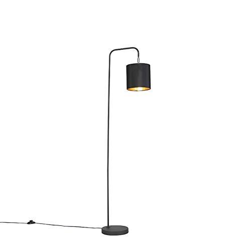 QAZQA Moderno Lámpara de pie moderna negra - LOFTY Acero ...
