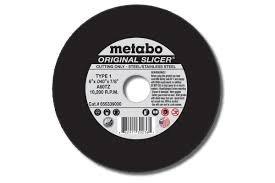 6 X .04 X 7/8 Original Slicer Cutoff Wheel, Type 1, 50/PK by Metabo