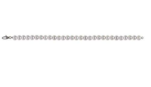 mayumi-bracciale perles pleine perlagione 6x 6œ mm or blanc 750°/° °