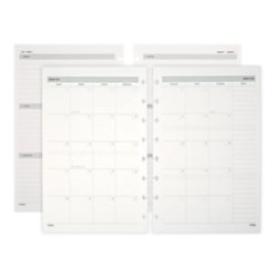 TUL Custom Note-Taking System Discbound Weekly/Monthly Refill Pages, Junior Size, 5.5