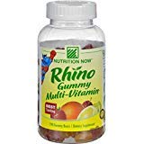 Vitamin Gummy Rhino - 2Pack! Nutrition Now Rhino Gummy Multi-Vitamin - 190 Gummy Bears