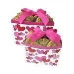 (Cookies From Home - Scribbled Hearts Gift Box Freshly Hand Baked Cookie and Brownie Gift Pack - 24 Cookies Vegan Gluten Free)