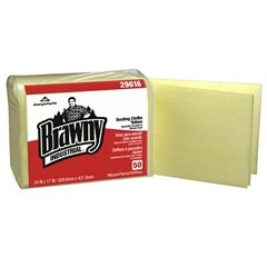 Georgia Pacific Brawny Industrial Dusting Cloths - 50 per Pack, Case of 4, Yellow
