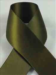 Schiff Ribbons 2244-1.5 100-Yard Polyester Double Face Satin Ribbon, 3/8-Inch, Olive