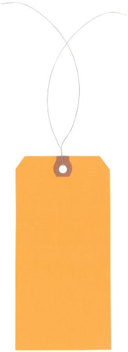 Tags Shipping Orange - Aviditi Pre-Wired Shipping Blank Tag, 13 Point Cardstock, 5-3/4