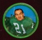 1962 salada tea coins (Football) Card# 110 Jimmy Carr of the Philadelphia Eagles VGX Condition