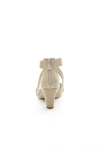 sandales P512780D JARDINS femme 410 sabbia à talon NOIR FqE1vF