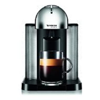 Nespresso A+GCA1-US-CH-NE VertuoLine Coffee and Espresso Maker with Aeroccino Plus Milk Frother, Chrome