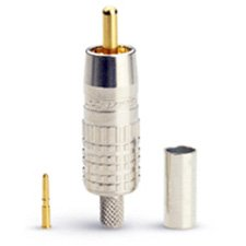 (Canare RCAP-C3A Crimp RCA for Canare A2V1 or A2V2-L or V-3C or L-3C2VS Cable-by-Canare)