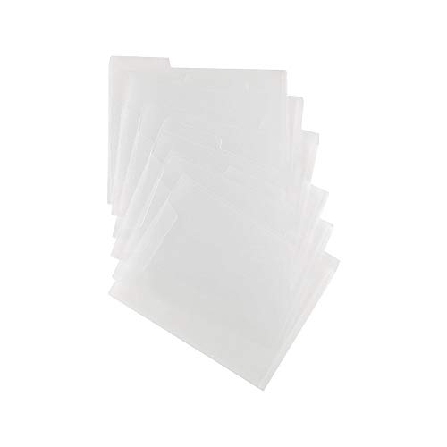 Staples 576460 Translucent Poly File Folders Clear 6/Pack ()