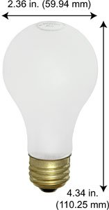 Incandescent Light Bulbs 100A19IF 12V Frost (Case of 120)