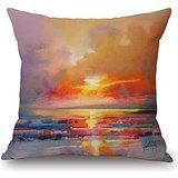Bestseason Scenery Pillow Shams ,best For Home,seat,family,teens,boy Friend,teens Girls 20 X 20 Inches / 50 By 50 Cm(both Sides)
