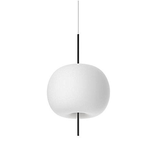 Kundalini Kushi 16 LED Pendelleuchte, weiß RAL 9010 opak Detail schwarz H 26cm Ø 16cm 2700K 600lm