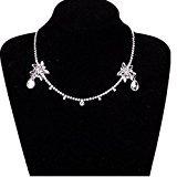 MEiySH Wedding Crown Crystal Rhinestone Headdress Necklace Classic Jewelry, Party Jewelry ()