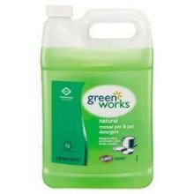 Clorox Commercial Solutions Green Works Natural Manual Pot and Pan Detergent, 128 Ounce -- 4 per case.