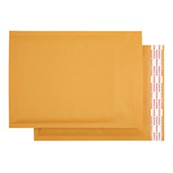 Office Depot Kraft Bubble Mailers, 7 1/2in. x 9in, Pack Of 25, 284342