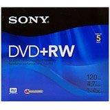 Sony 5DPW47R2H 5-Pack DVD+RW Rewriteable DVD Discs (4.7GB)