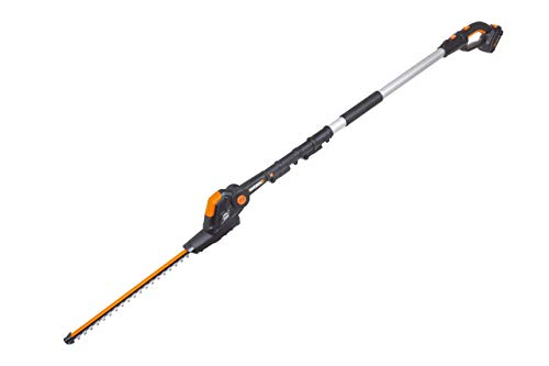 WORX WG252 20V Attachment Capable Hedge Trimmer, 20″, Black and Orange (Renewed)