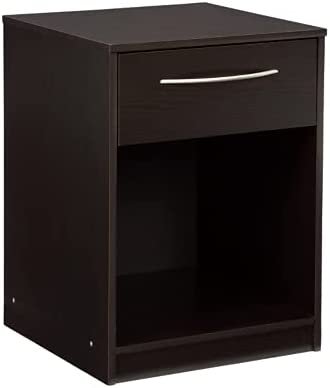 Signature Design by Ashley Flannia One Drawer Night Stand with Open Cubby, Black