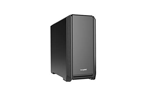 be quiet! Silent Base 601 Black Mid-Tower ATX Computer Case, two 140mm fans, 10mm extra thick insulation mats , (BG026)