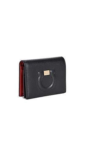 - Salvatore Ferragamo Women's Gancio City Wallet, Nero, Black, One Size
