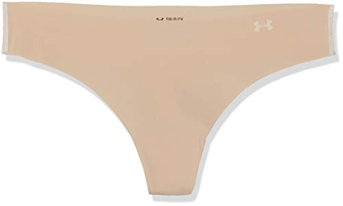 Under Armour Women's Pure Stretch Thong 3 Pack, Nude (295)/Nude, Medium