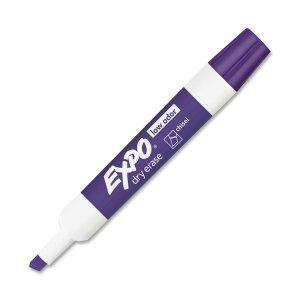 (Expo Dry Erase Marker,Marker Point Style: Chisel - Ink Color: Purple - 12 / Dozen)