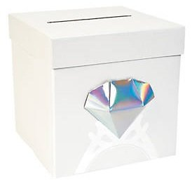 Fun Express Diamond Card Box~Wedding~Bridal Shower~Bachelorette Party