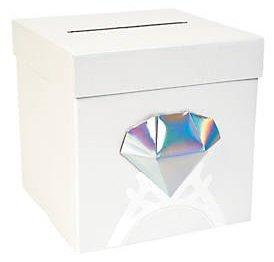 Fun Express Diamond Card Box~Wedding~Bridal Shower~Bachelorette Party by Fun Express