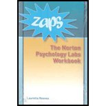 ZAPS : Norton Psychology Labs Workbook: To Accompany ZAPS: Norton Psychology Labs at Wwnorton.com/Zaps, Reeves, Lauretta, 0393931056