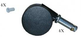 (Rubbermaid 7805-L2 High Chair Caster Kit )