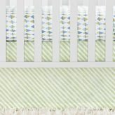 Serena and Lily Sprout Green Candy Stripe Crib Skirt