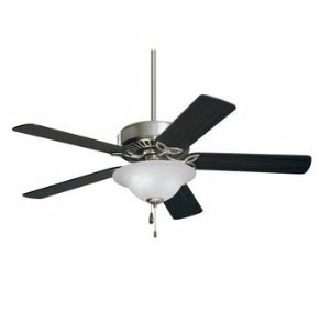 Emerson Ceiling Fans CF712BS Pro Series Indoor Ceiling Fan With Light, 50-Inch Blades, Brushed Steel ()