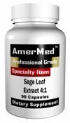 Sage Extract AmerMed capsules BOTTLES product image