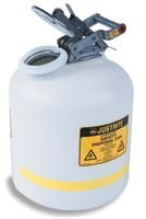 Disposal Cans - JUSTRITE Manufacturing 12754 Polyethylene Safety Can for Liquid Disposal, Stainless Steel Hardware, Flame Arrester, 5 gal Capacity, 20