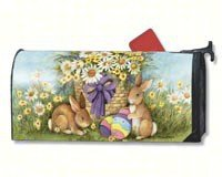 MailWraps Easter Bunnies Mailbox Cover #02041 by MailWraps