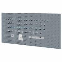 Kennedy Manufacturing 50004UGY 4-Panel Tool board Set with 60 Piece Toolholder Set As Garage Wall Pegboard And Storage Organizer, Utility Gray