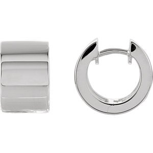 - Jambs Jewelry Sterling Silver 13.5 mm Hinged Earrings
