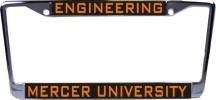 WinCraft Mercer University L309010 Inlaid Metal LIC Plate Frame